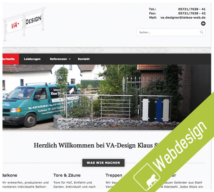 Webseite Va Design Stange Wild Coding Medienagentur